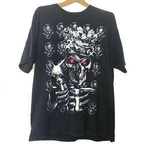 Other - Halloween Skeleton King Mens sz M Black Shirt